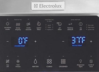 Ei26ss30js Electrolux 25 9 Cu Ft Side By Side