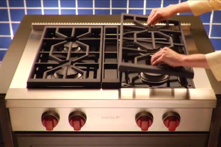 Grates Are Arranged In A Continuous Formation To Allow You To Slide Pots  And Pans Off And Onto Heat While Cooking. Wolf Grates