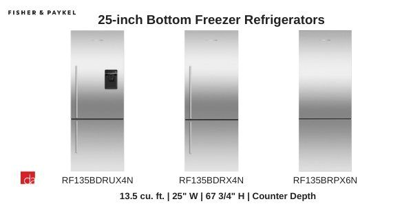 Fisher-Paykel-25-inch-Refrigerators