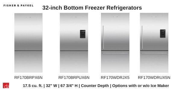 Fisher-Paykel-Refrigerator-32inch-Width