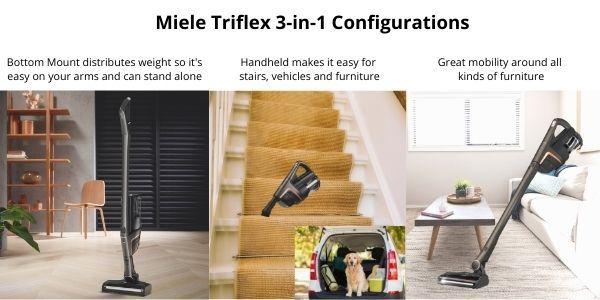Miele Triflex Vacuum Configuration