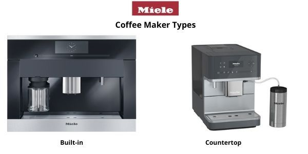 Miele built-in and countertop coffee machines