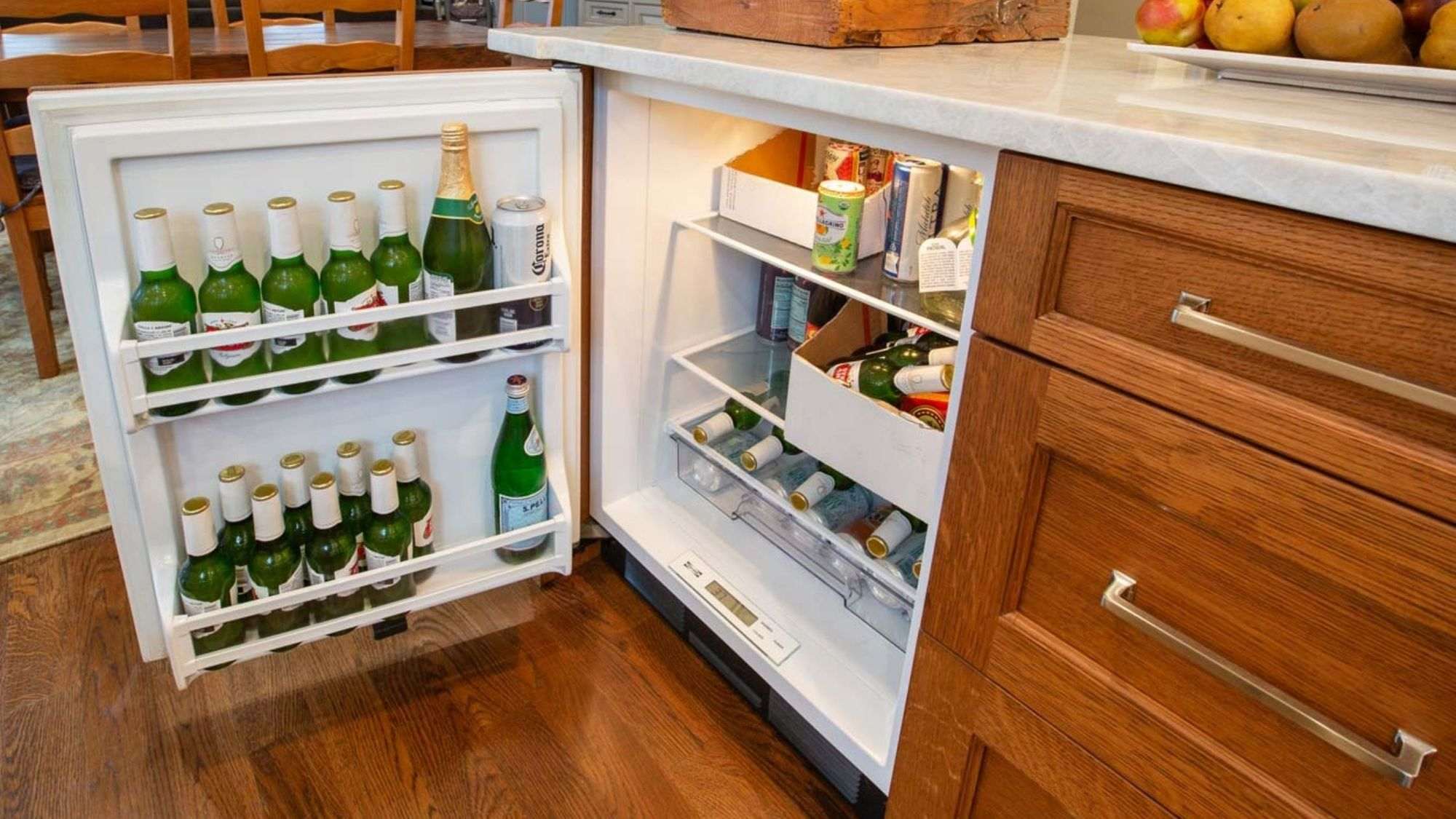 beverage center in a pantry