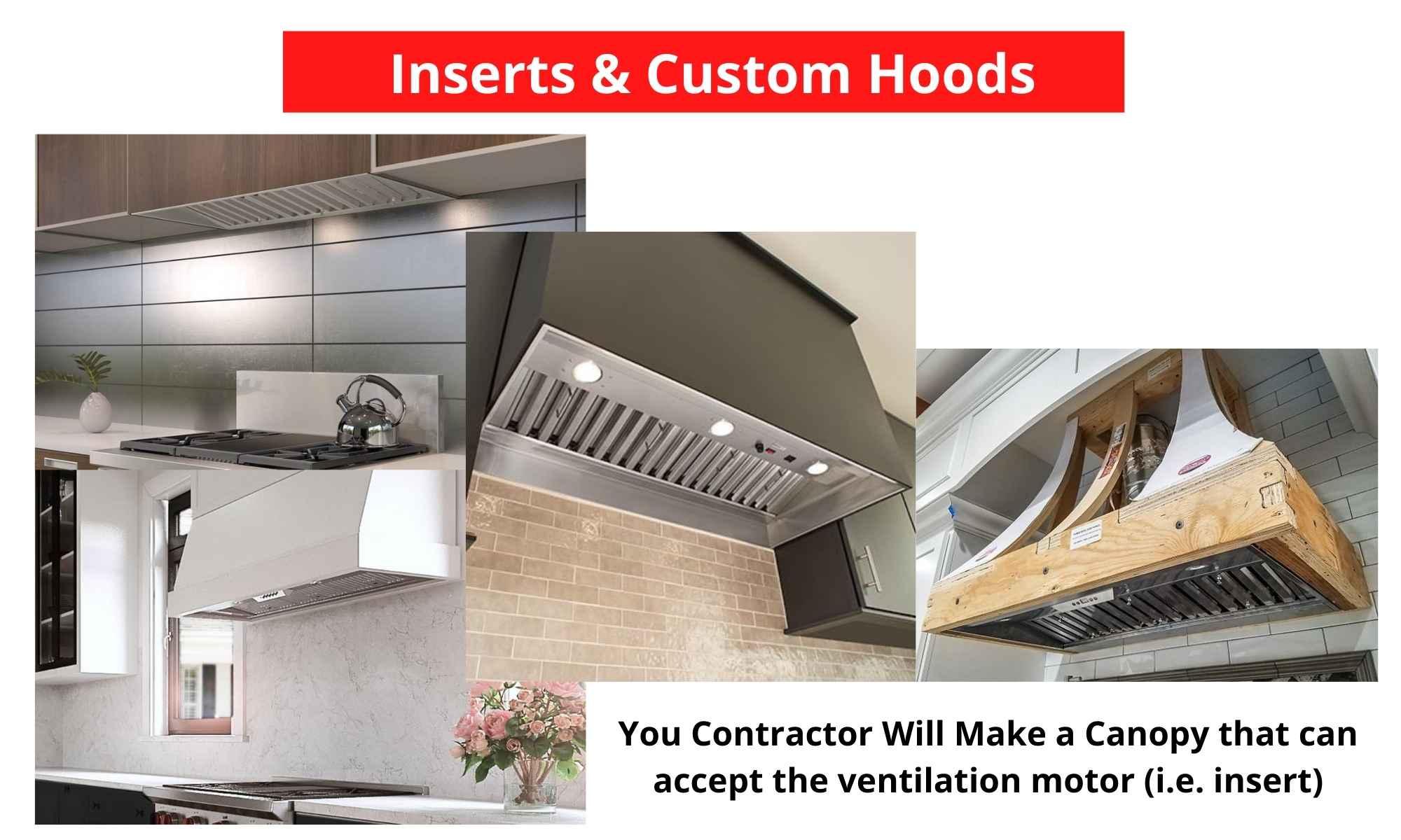 Custom hood inserts