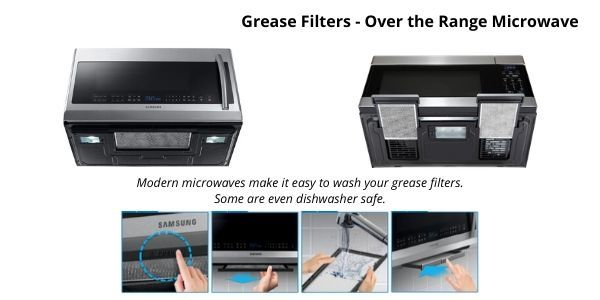 over the range microwave grease filter