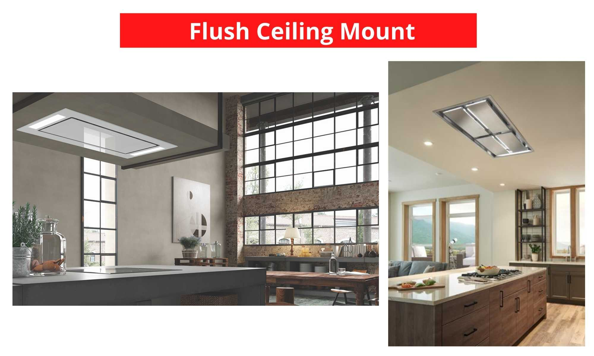 flush mount range hoods