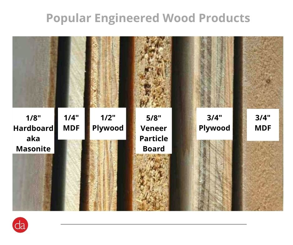 engineered wood product including MDF