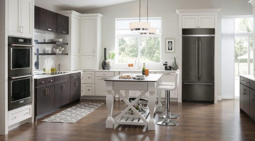 KitchenAid refrigerator in black stainless