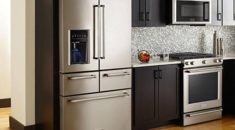 KitchenAid five door refrigerator and range