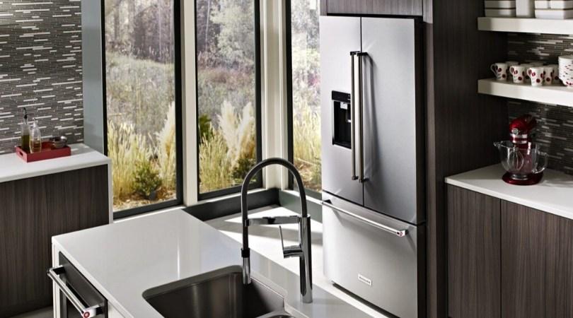 KitchenAid bottom freezer refrigerator with French doors
