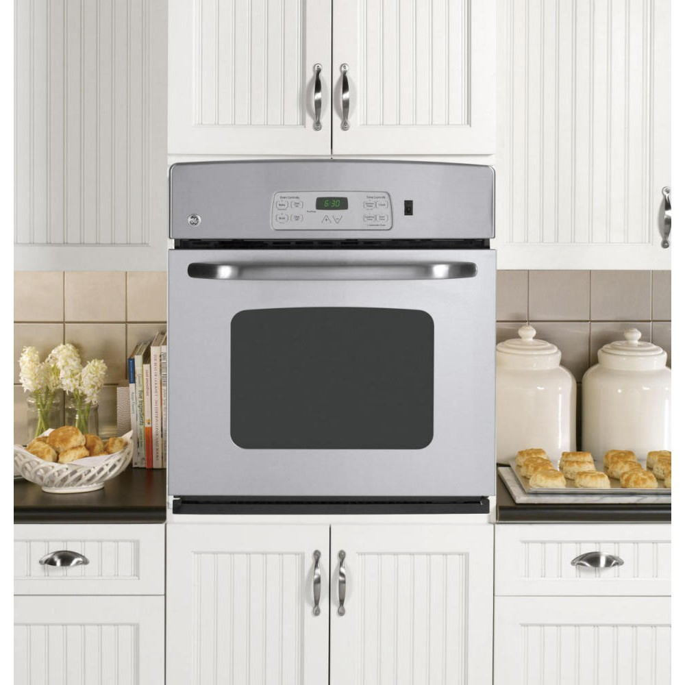 Ge Jks10spss 27 Quot Single Electric Wall Oven With 3 8 Cu Ft