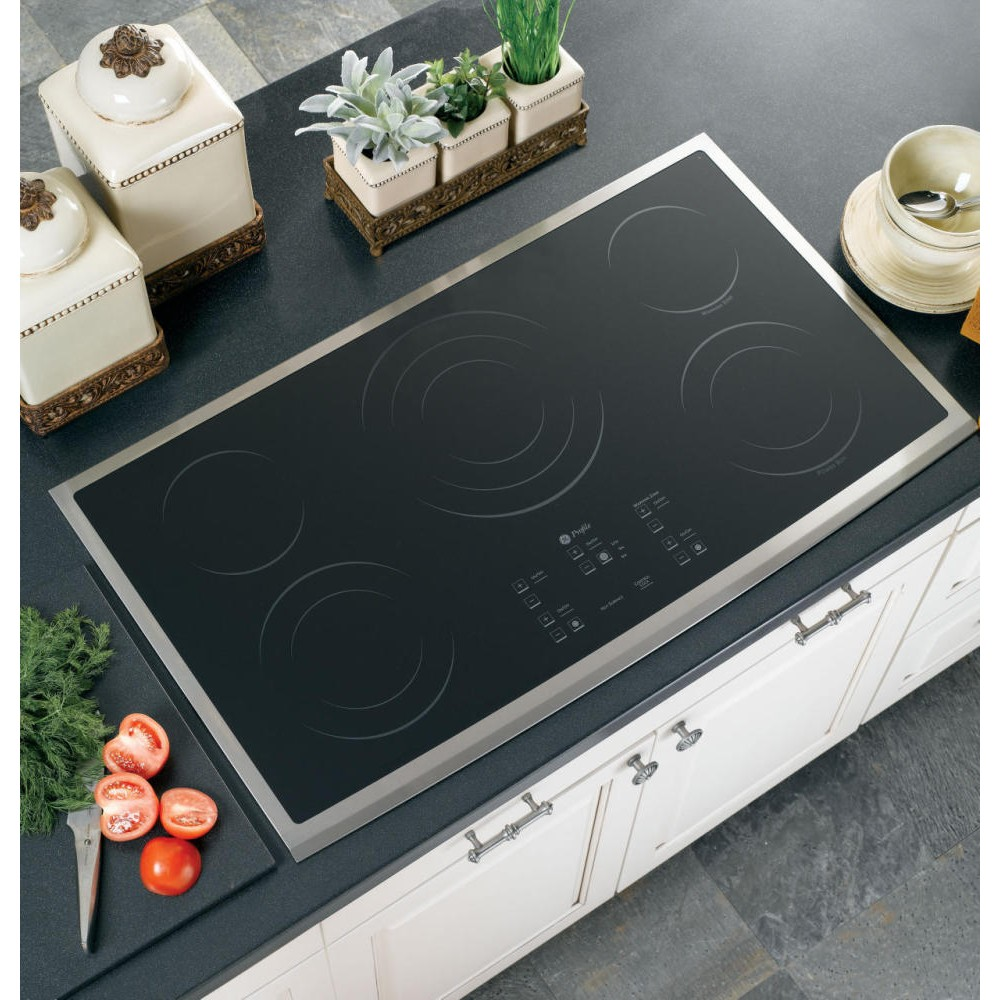 Ge Pp975smss 36 Quot Smoothtop Electric Cooktop With 5 Ribbon
