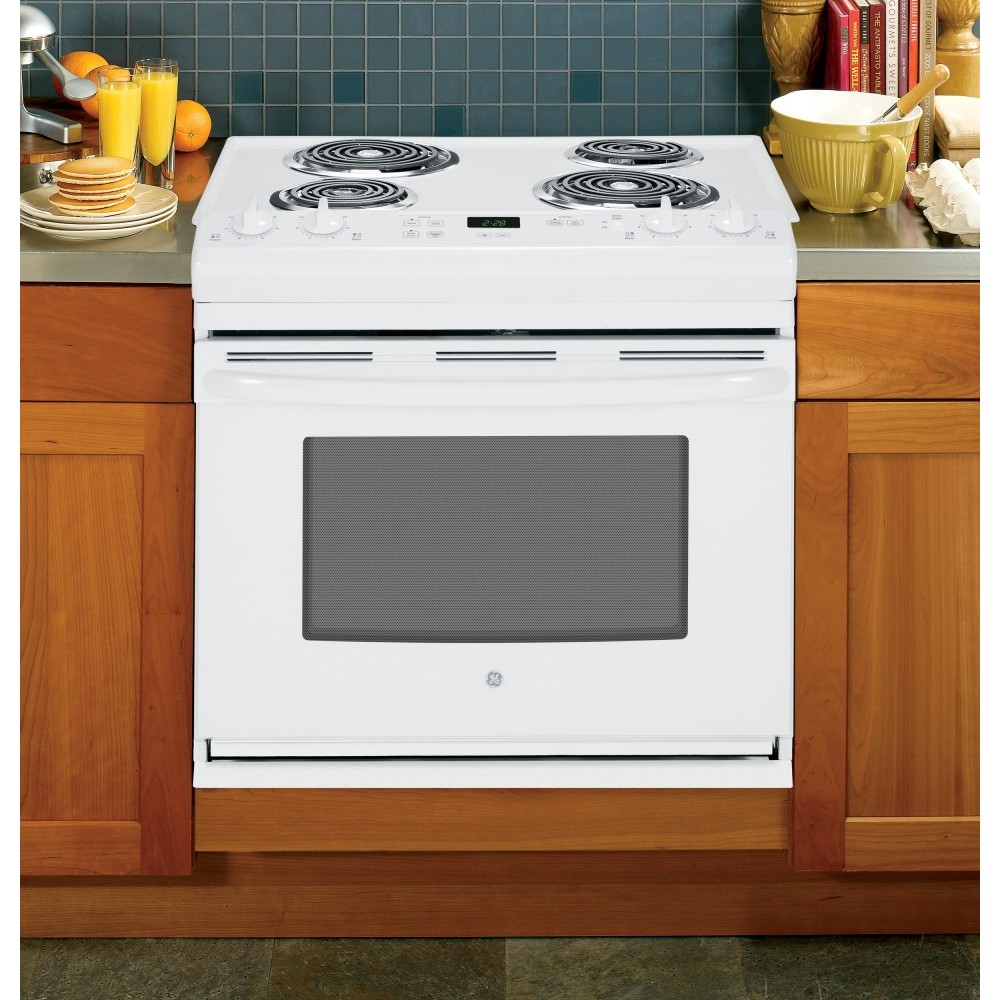 drop in electric range jds28dfww ge 30 quot drop in electric range 10947