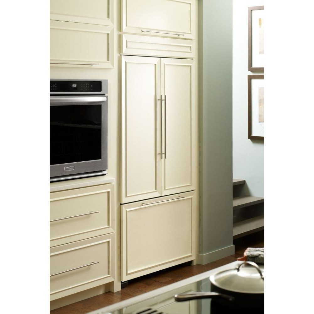 Kitchenaid Kbfc42fts 42 Built In French Door Refrigerator With Glass Touch Electronic Controls
