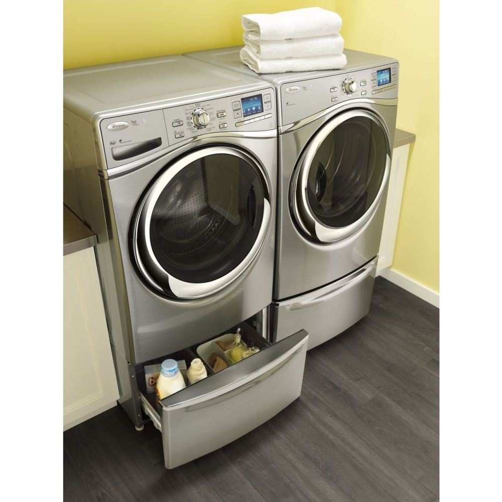 Wel98hebu whirlpool 7 4 cu ft duet smart electric dryer silver - Whirlpool duet washer and dryer ...