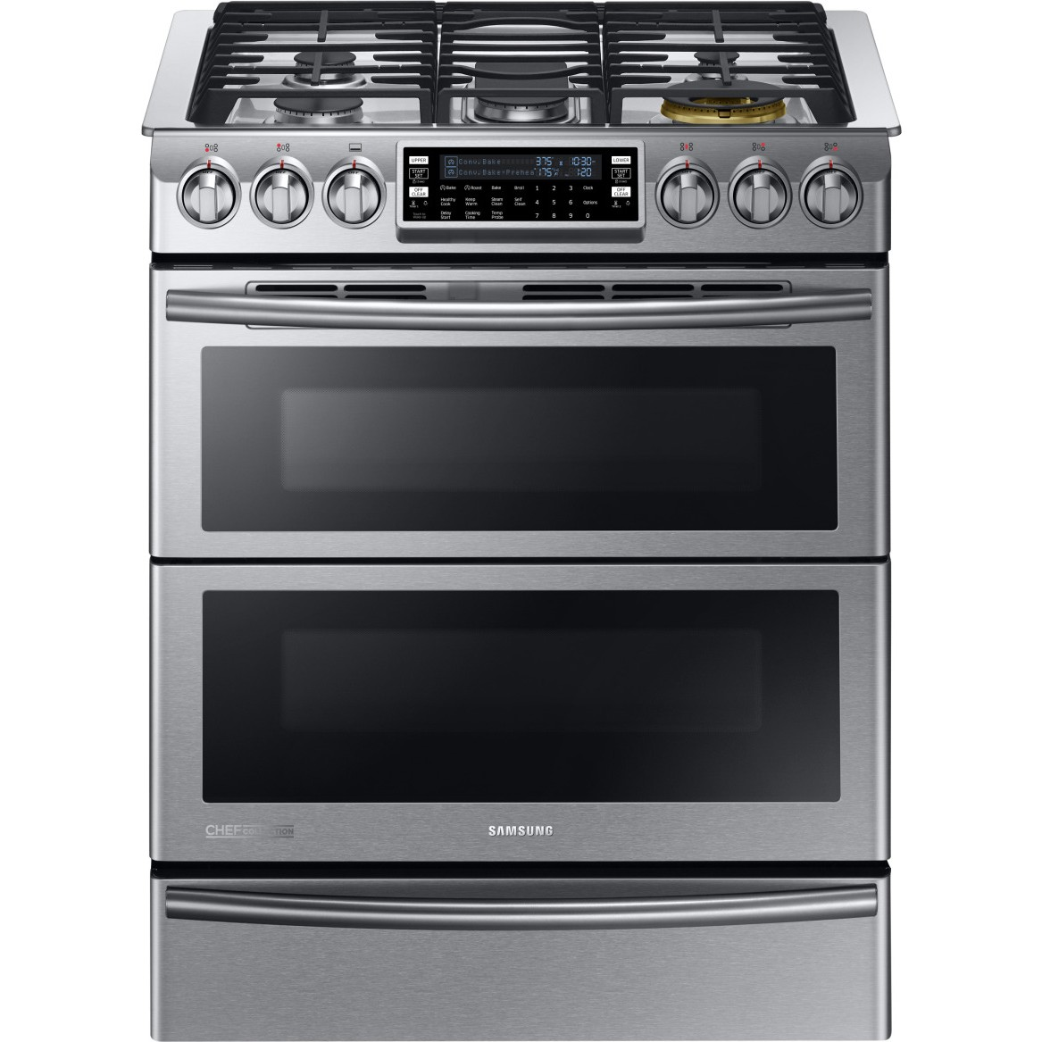 Stoves And Ovens ~ Ny j ws samsung chef collection dual fuel range w