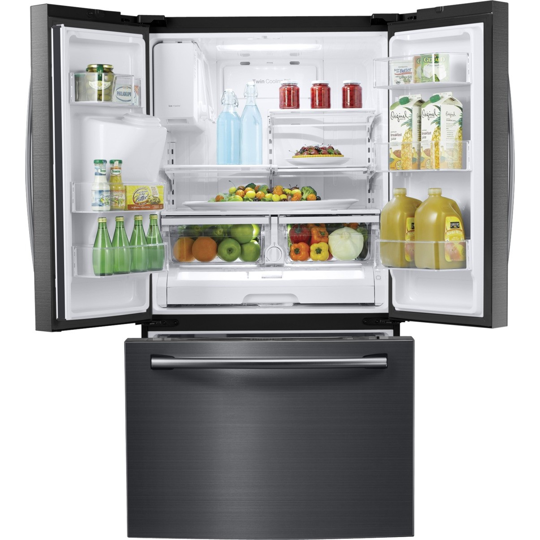 Rf263beaesg Samsung 25 6 Cu Ft French Door Refrigerator