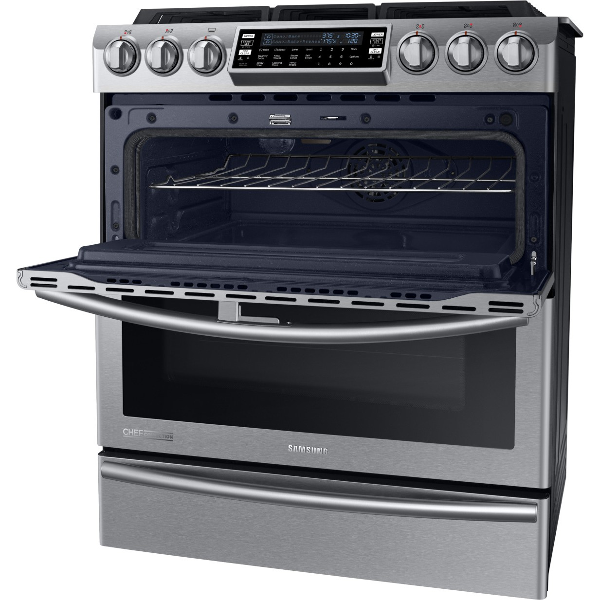 Ny58j9850ws Samsung Chef Collection Dual Fuel Range W