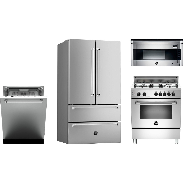 bertazzoni kitchen package with mas304gasxe gas range