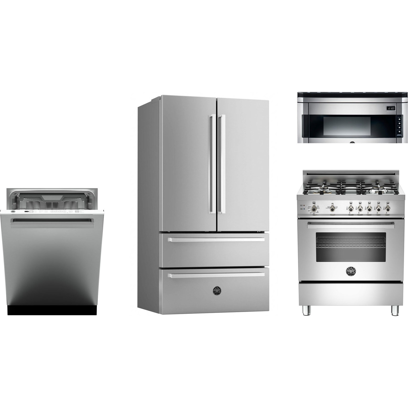 Bertazzoni kitchen package with pro304gasx gas range for Kitchen appliance packages