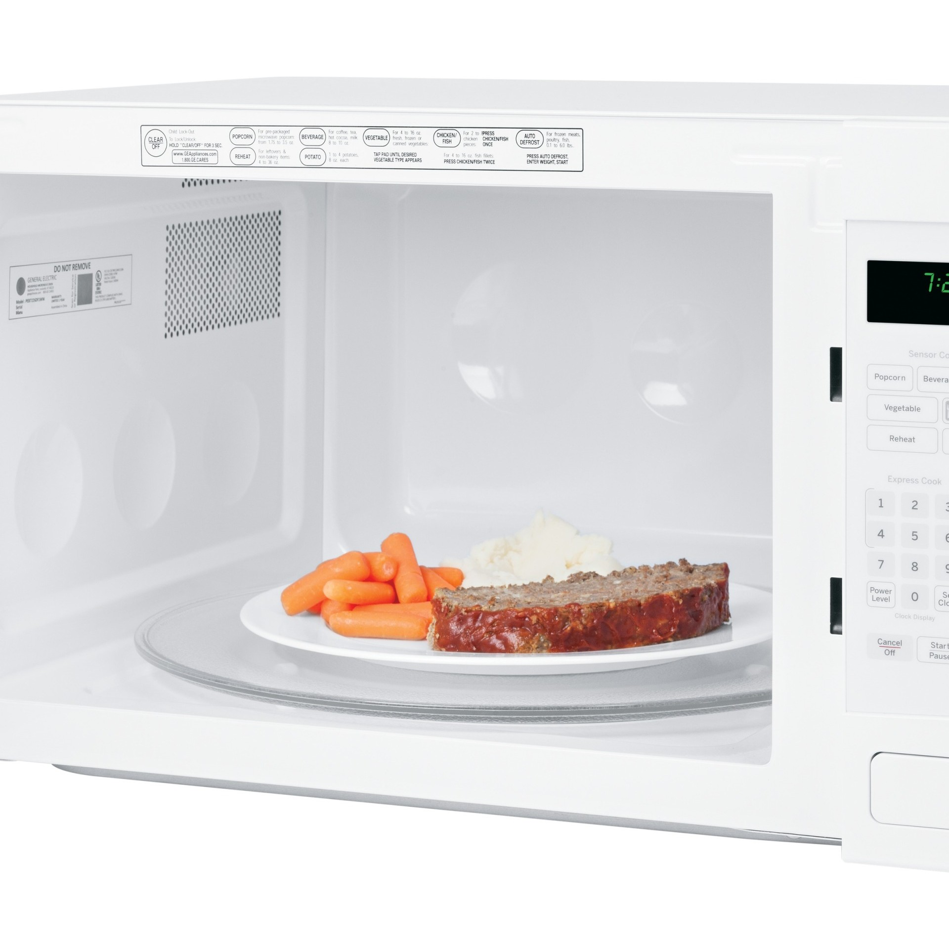 ... GE Profile 2.2 Cu. Ft. Built In or Countertop Microwave - White