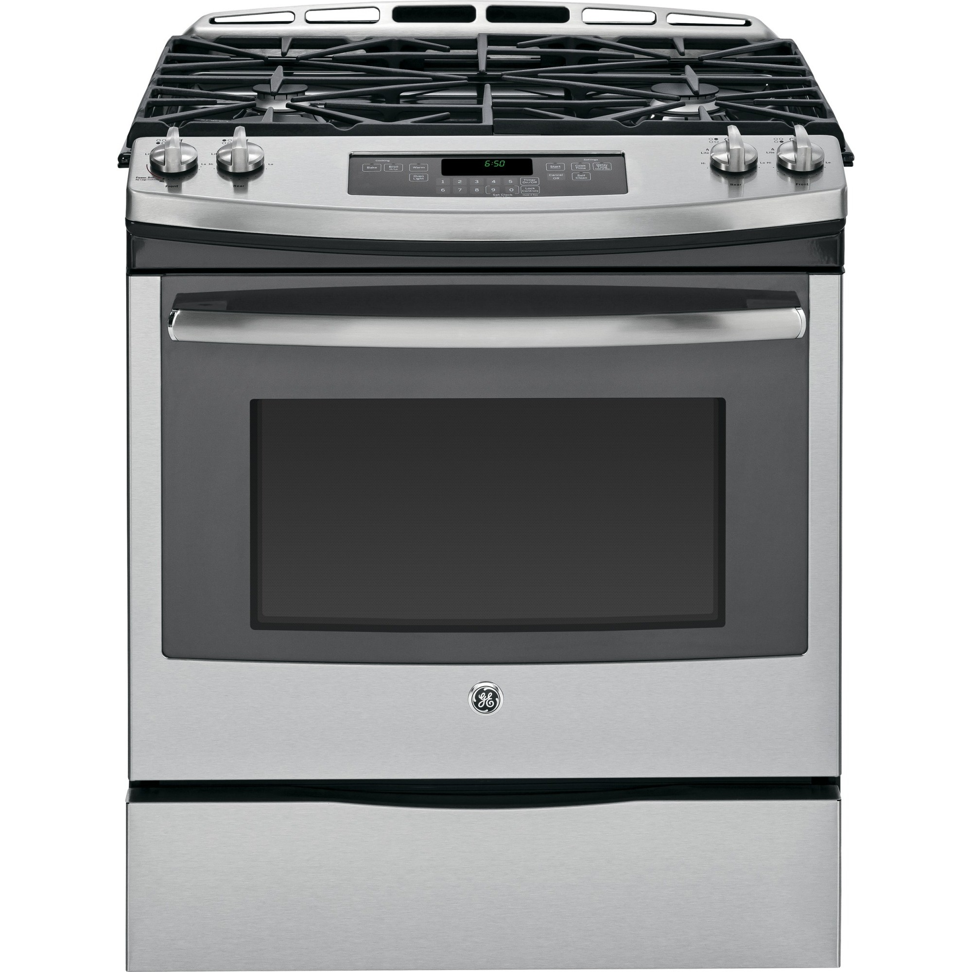 Stainless Steel Electric Stove ~ Jgs sefss ge quot slide in front control gas range