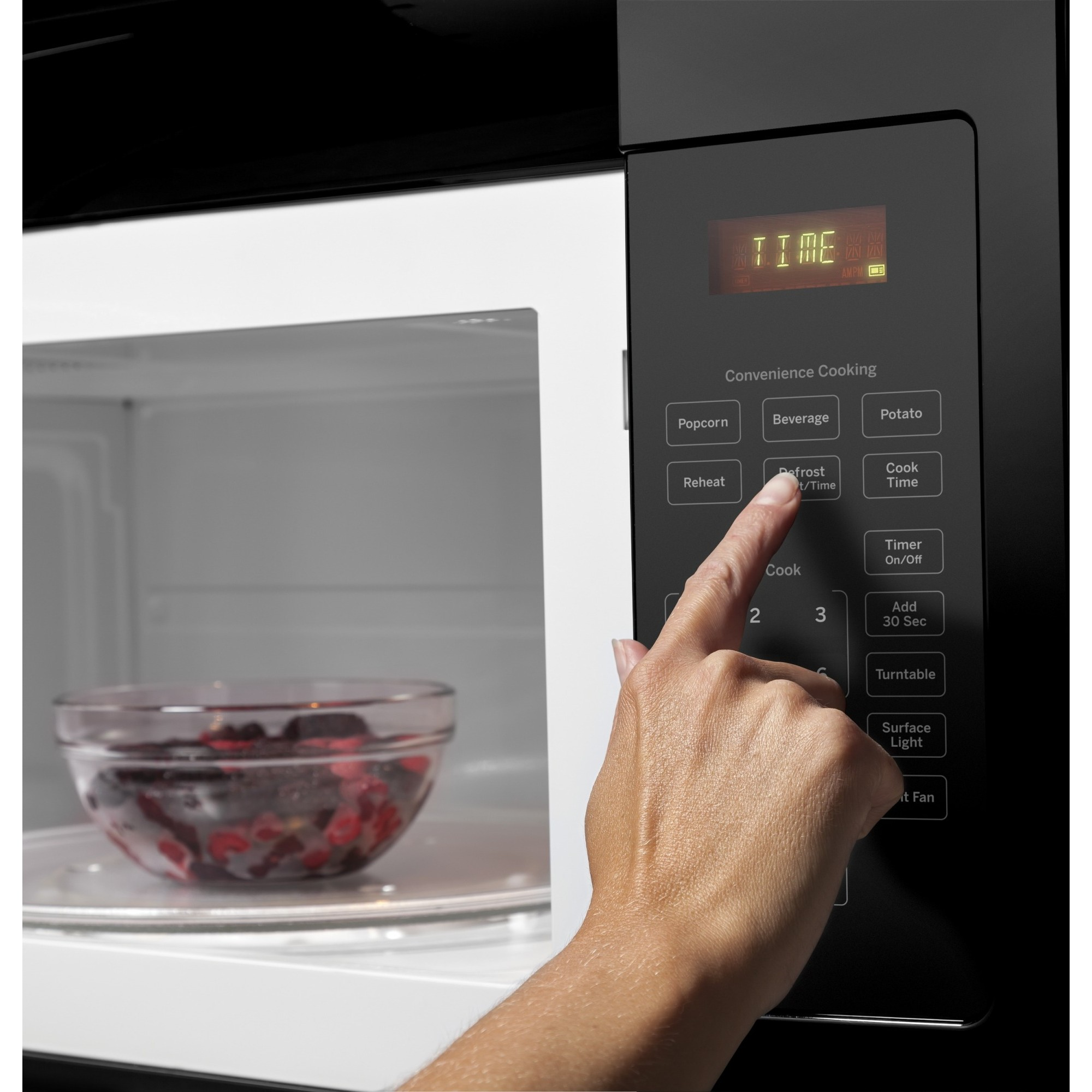 Jvm3160dfbb Ge 1 6 Cu Ft Over The Range Microwave Oven