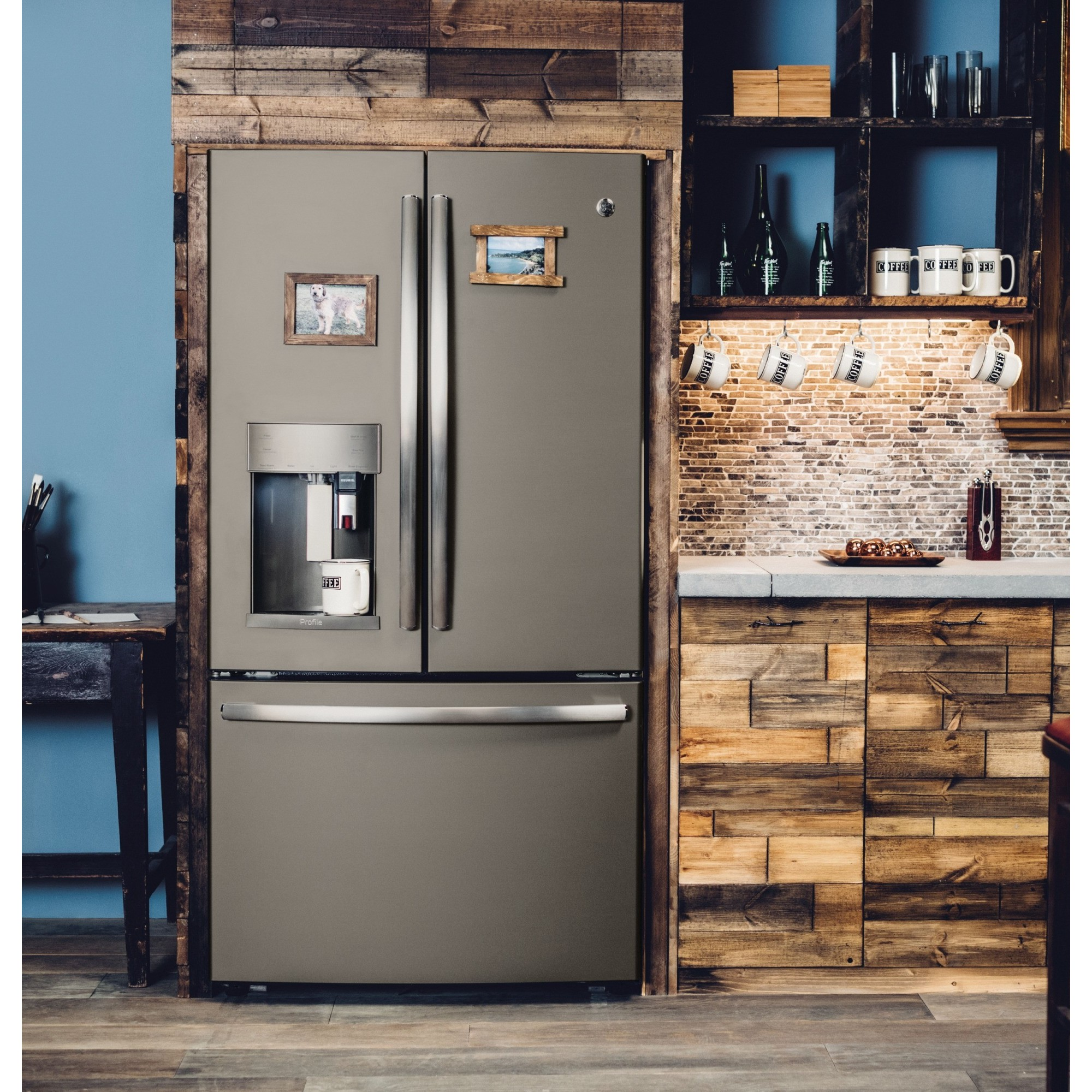 Pfe28pmkes Ge Profile 27 8 Cu Ft French Door Refrigerator