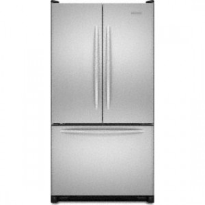 Kitchenaid kbfs20etss 19 7 cu ft counter depth french door refrigerator with interior water for Interior water dispenser refrigerator