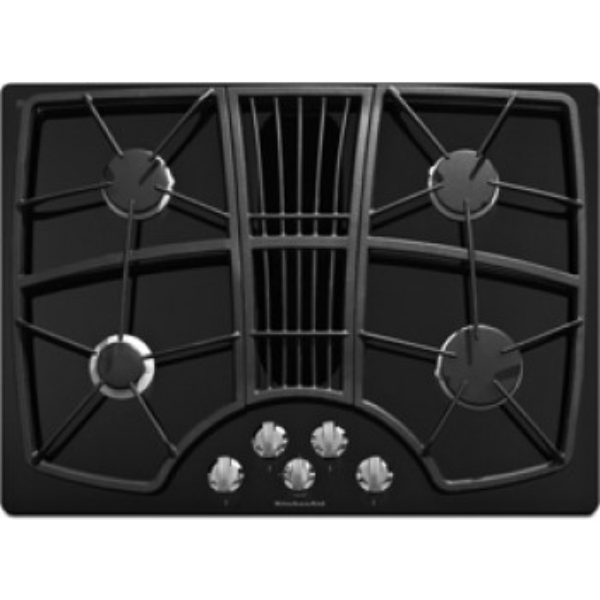 Kitchenaid Kgcd807xbl 30 Quot Gas Cooktop With 325 Cfm