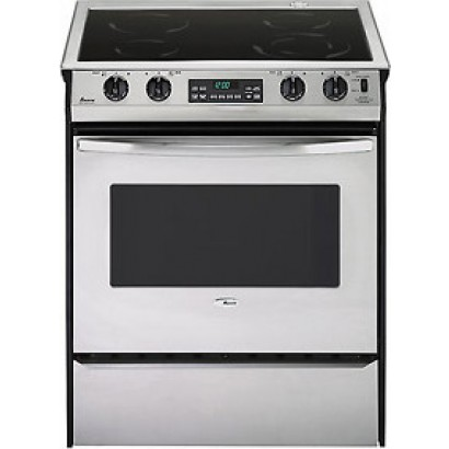 Amana : 30 inch Slide-In Smoothtop Convection Electric Range