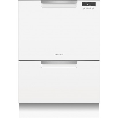 Dd24dctw9 fisher paykel double drawer dishwasher white - Fisher paykel dishwasher drawer reviews ...
