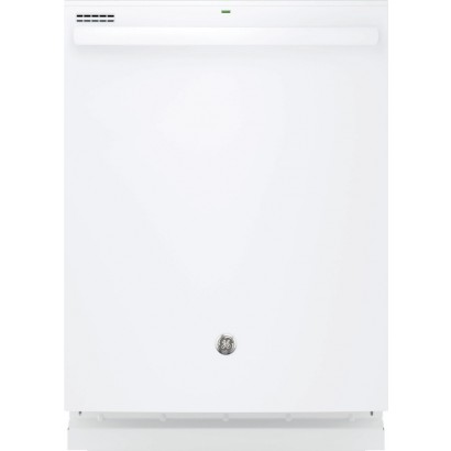 Gdt635hgjww ge hybrid stainless steel interior dishwasher with hidden controls white for White dishwasher with stainless steel interior