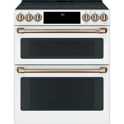 Ces750p4mw2 Ge Cafe 30 Slide In Double Oven Electric Range Matte White