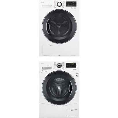 Lg Wm1388hw Front Load Washer Amp Dlec888w Electric Ventless