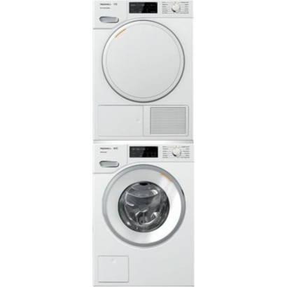 Miele Wwf060wcs W1 Washer And Twf160wp T1 Dryer Stacked