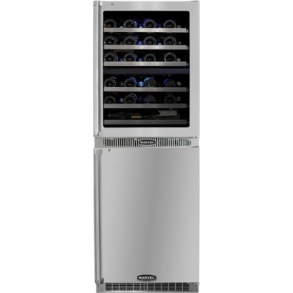 mpro66dzarbsgll marvel professional 24 quot dual zone wine cellar refrigerator combo left hinge
