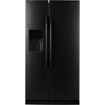Samsung : RS2530BBP 25 cu  ft  Side by Side Refrigerator - Black Pearl