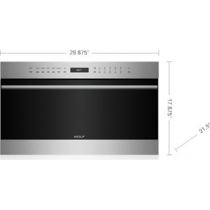 Wolf SPO30TE/S/TH 30 inch Built-In Speed Oven, E Series