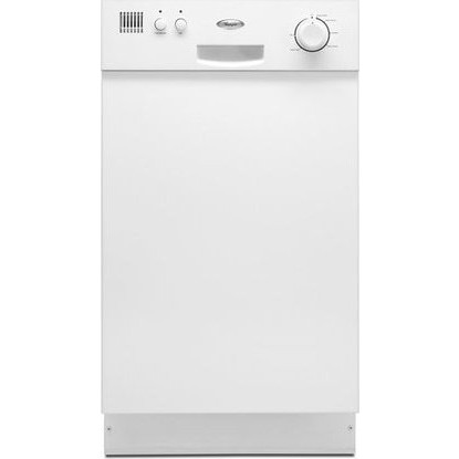 Whirlpool du018dwtq 18 full console dishwasher with 5 cycles 1 options stainless steel for White dishwasher with stainless steel interior