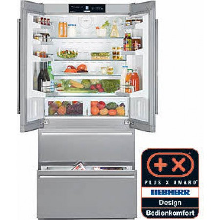 liebherr cs 2062 36 19 4 cu ft french door refrigerator with ice maker. Black Bedroom Furniture Sets. Home Design Ideas