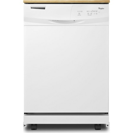 Whirlpool Wdp350paaw Portable Full Console Dishwasher With