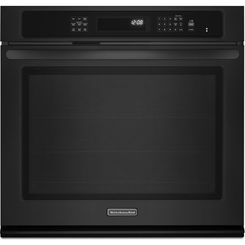 Kitchenaid kebs109bbl 30 single wall oven with 5 0 cu ft for Kitchenaid 0 finance