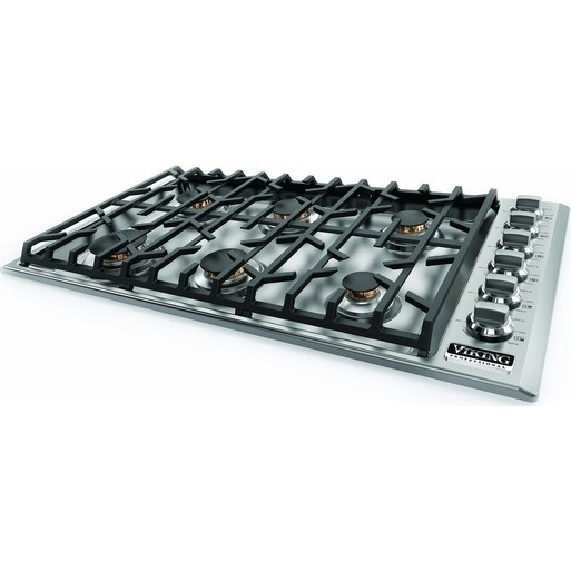 """36""""W. Gas Cooktop-6 Burners-Stainless-LP"""