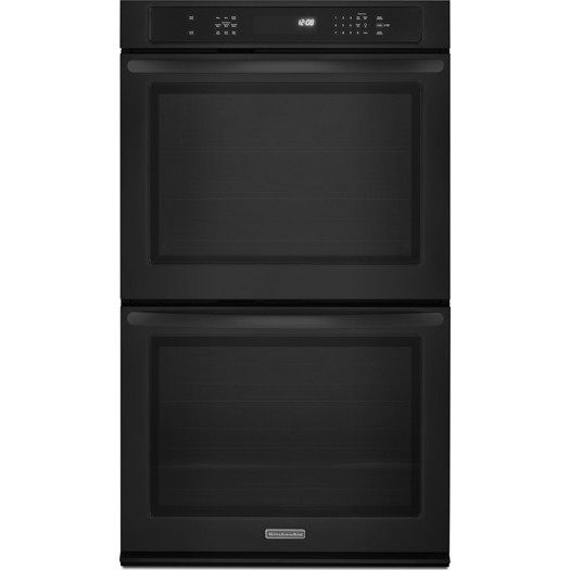 Kitchenaid kebs209bbl 30 double electric wall oven with 5 for Kitchenaid 0 finance
