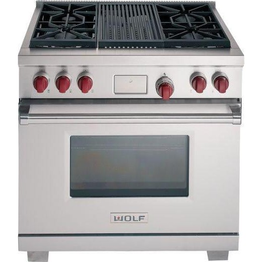 Wolf Df364c Lp 36 Quot Dual Fuel Range With 4 Sealed Burners
