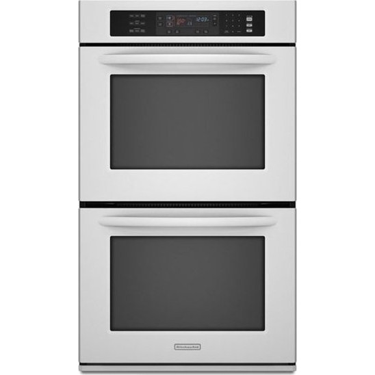 Kitchenaid kebk206swh 30 double wall oven white for Kitchenaid 0 finance