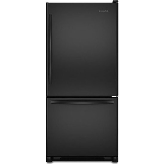 Kitchenaid kbrs19ktbl 18 5 cu ft freestanding bottom for Kitchenaid 0 finance