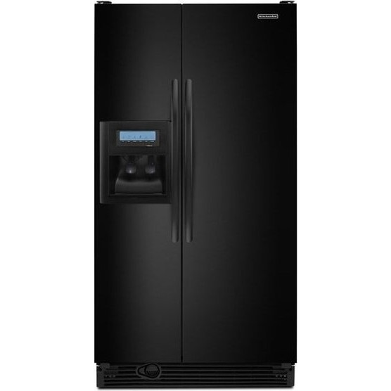 Shop Kitchenaid 24 8 Cu Ft Side By Side Refrigerator With: KitchenAid KSCK25FVBL 24.5 Cu. Ft. Side By Side