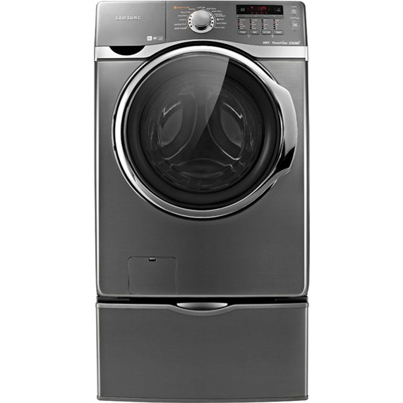 Samsung Wf431abp 27 Quot Front Load Washer With 3 9 Cu Ft